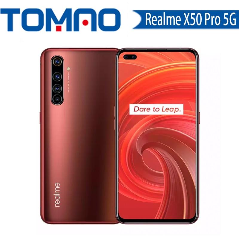 Original nuevo verdadero yo X50 Pro 5G teléfono inteligente Snapdragon 865 8G 12G RAM 128G 256G ROM 90Hz SuperAmoled pantalla 65W cargador rápido