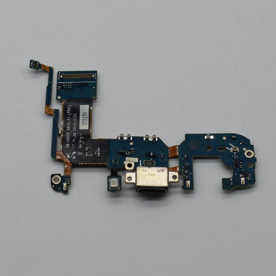10pcs Original Micro cargador de carga USB Dock Port Connector Flex Cable para Samsung Galaxy S8 más G955F