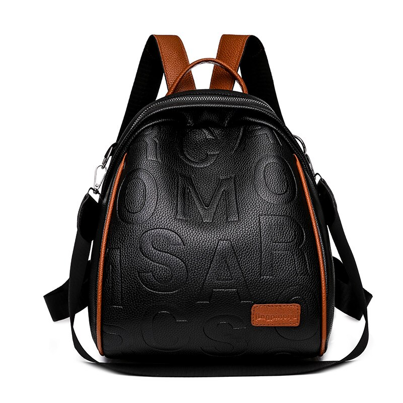 Soft PU Leather Backpack Fashion Fresh Backpack for Women 2021 New multi-function Leisure Or Travel Bags Solid Bags