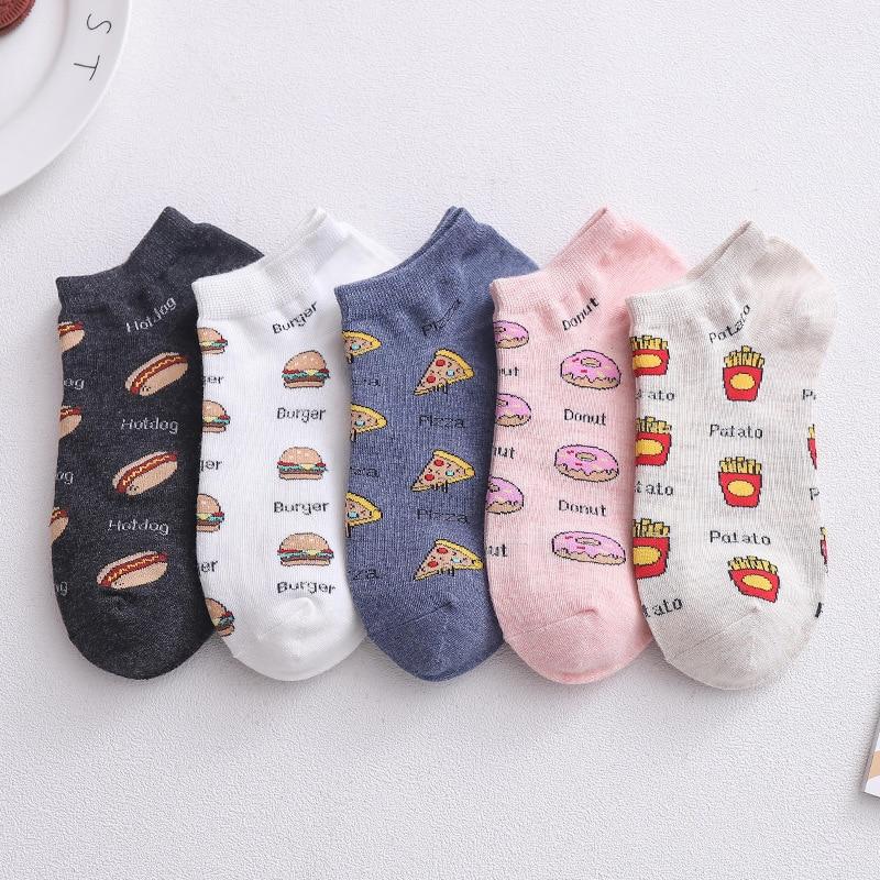 5 pares nuevos 2020 primavera y verano calcetines mujeres Japón y Corea del Sur Harajuku Kawaii dibujos animados lindos calcetines Joker ropa de calle fina