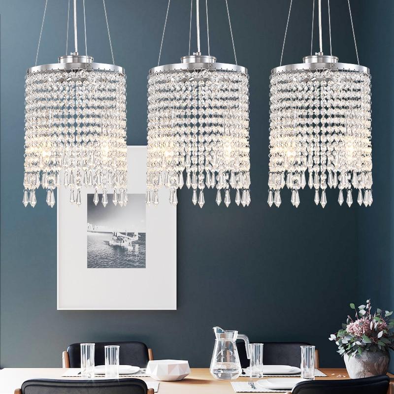 AliExpress - New Modern LED Chrome Chandelier Lighting for Living room Kitchen Tassel Crystal Chandeliers Bedroom Wires Hanging Lamp Home