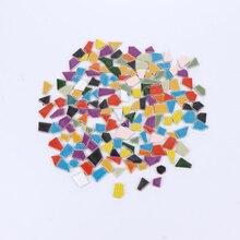 لتقوم بها بنفسك فسيفساء شظايا السيراميك غير النظامية حجر الفسيفساء المزجج بريق الكريستال حجر الفسيفساء لتقوم بها بنفسك المواد (500g ، متنوعة صنع الفسيفساء    -