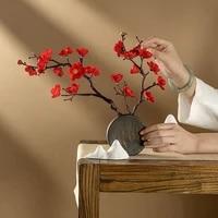 Simulation de fleurs de prunier artificielles  Bouquets de fleurs creatives  decoration de maison  ornement de fete de printemps