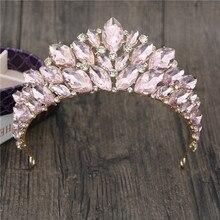 Princesse mariée couronne magnifique cristal diadèmes et couronnes cheveux bijoux reconstitution historique bandeau mariée mariage couronne tête accessoires