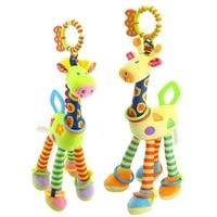 47cm 18 5 giraffe rattle baby toys 0 12 months crib mobile toys for newborns plush toy for stroller educational toys