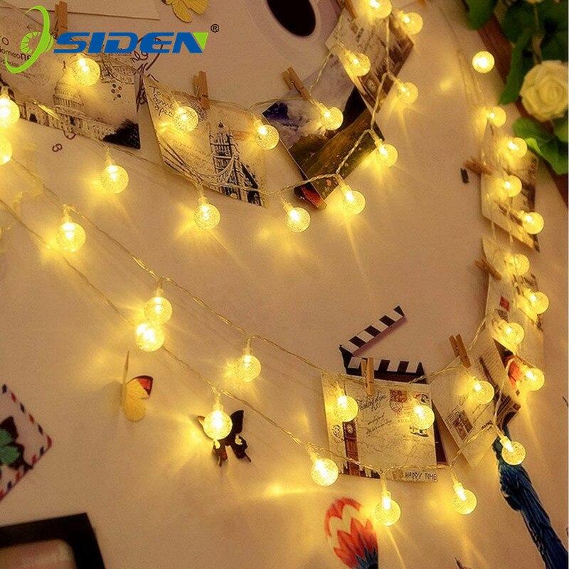 Guirnalda de luces LED de 220v de 10m y 5m para interiores y exteriores, luces de hadas decorativas en blanco cálido para cumpleaños, fiesta, boda y Navidad