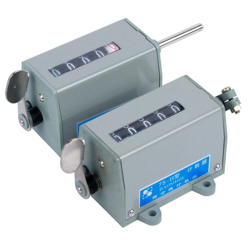 75-I/75-II/D-70 промышленный счетчик аккумуляторных отверстий, 5-значные обороты, машинный инструмент механического типа