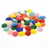 20pcs synthetic coral 15mm shell shaped coral loose beads charm female jewelry making diy necklace earrings jewelry accessories