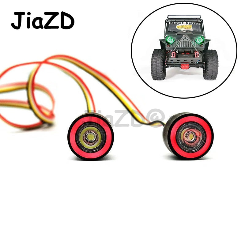 JiaZD LED Lights Headlight for 1/10 RC Rock Crawler Axial SCX10 D90 Jeep Wrangler Body Shell RC Car Accessories