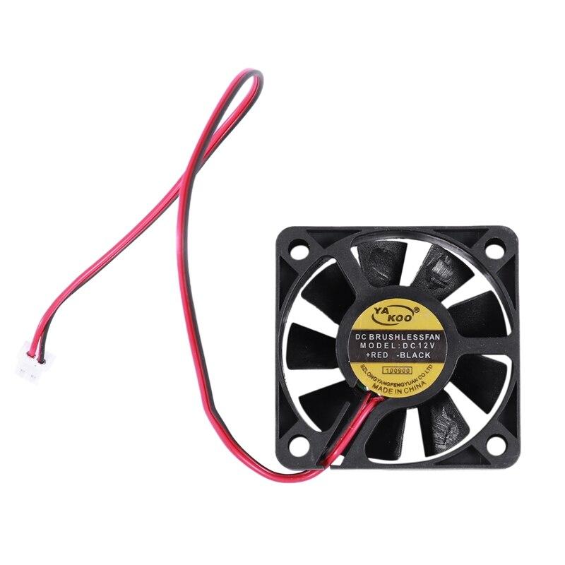 50 мм x 50 мм x 10 мм 5010 постоянного тока 12 В 0,1 а 2-контактный Бесщеточный вентилятор охлаждения