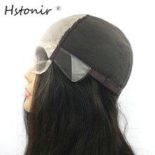 Perruque Lace Front Wig Remy naturelle européenne-Hstonir   Perruque en Poly soie lisse réglable, pour femmes, G015