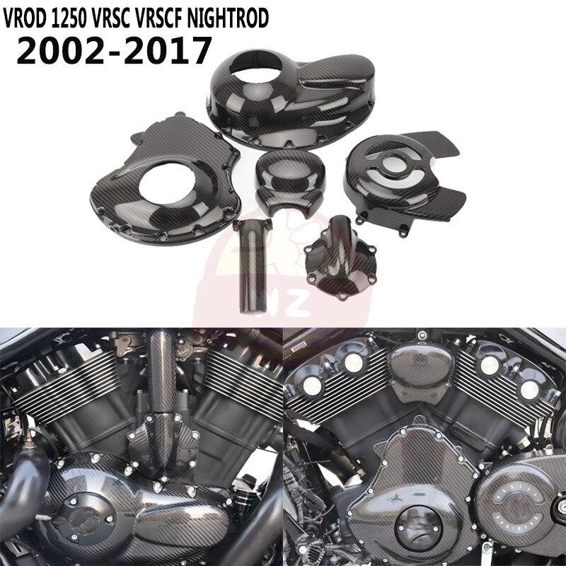 ل هارلي ديفيدسون VROD 1250 VRSC VRSCF Nightrod 2002-2017 2016 100% الكربون الألياف مولد مخلب الجانب غطاء الغطاء الواقي