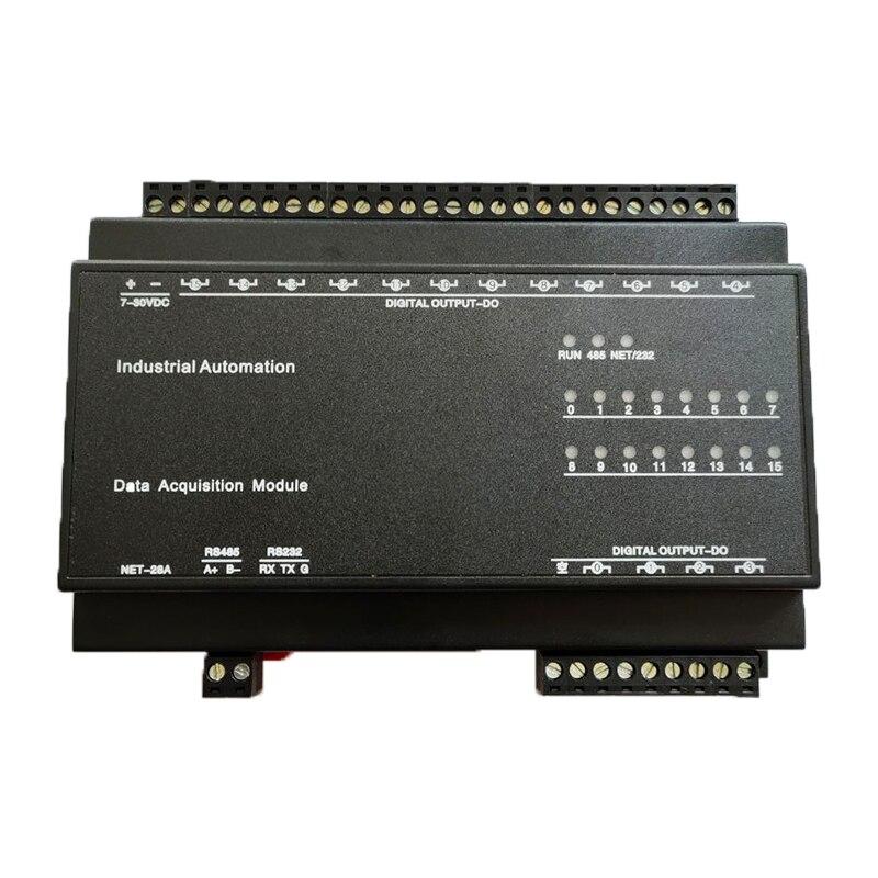 16 قناة التتابع وحدة الإخراج Modbus RTU وحدة 220 فولت 5A معدات الاتصال القدرات RS485
