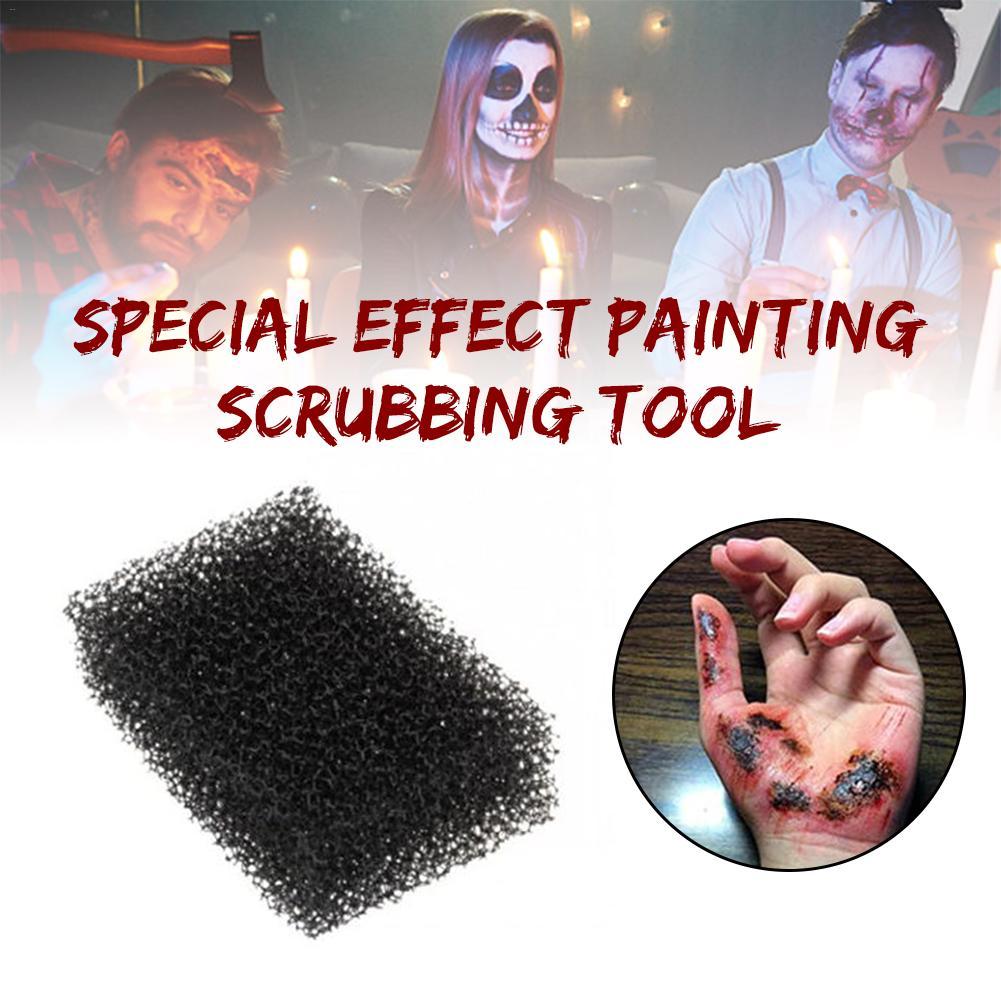 1pcs  black dot painting sponge Halloween Face Paniting Makeup Tool Special Effect Painting Scrubbing Tool
