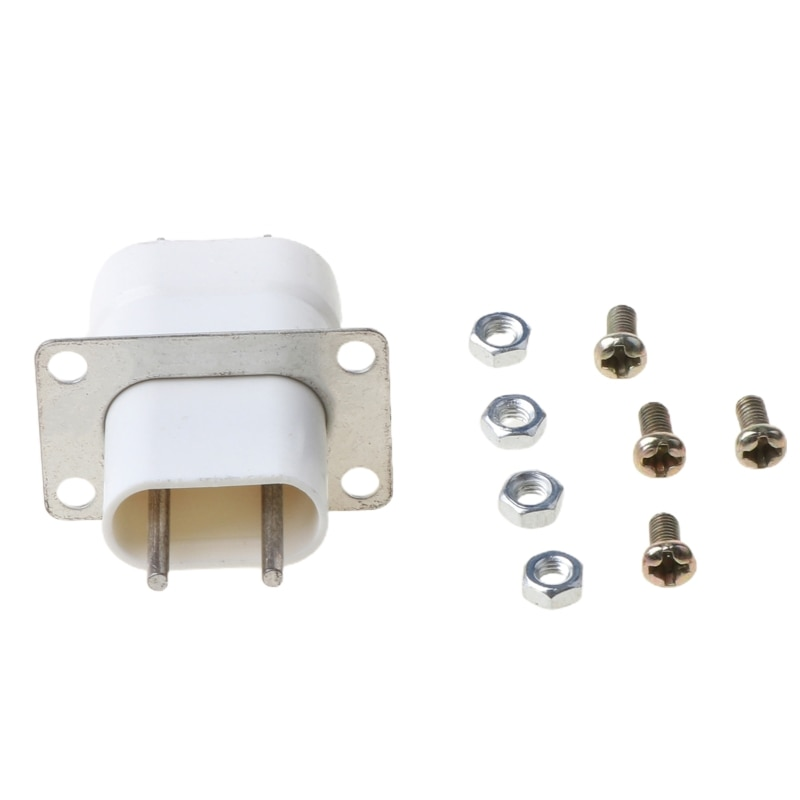 Home Electronic Microwave Oven Magnetron Filament 4 Pin Socket Converter White G8TC