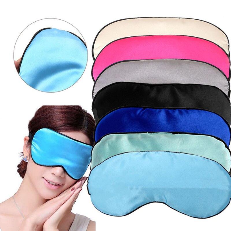 1 ud. Antifaz para dormir de seda pura antifaz acolchado opaco viaje Relax Aid venda para los ojos