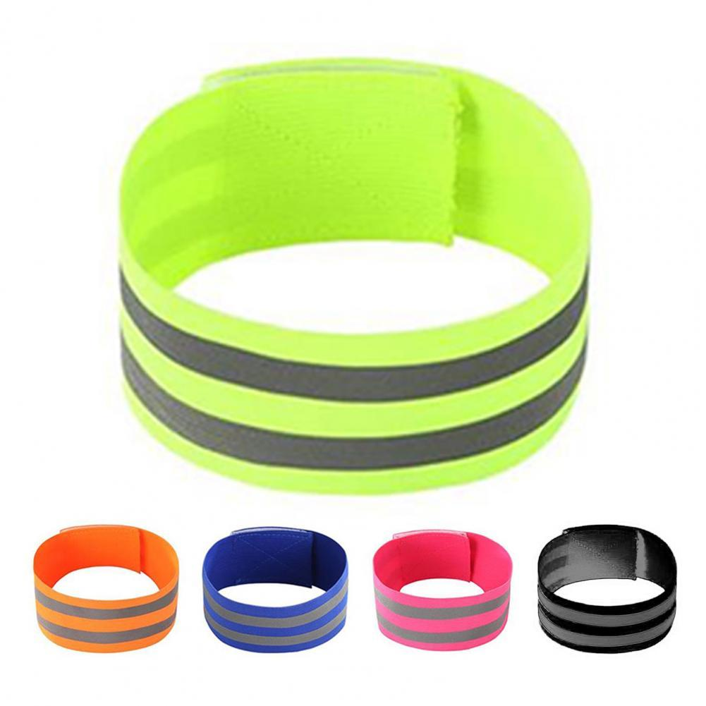 Wrist Belt Super Soft High Elastic Reflective Cloth Arm Wrist Ankle Reflective Band for Outdoor