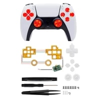 for ps5 handle modification led modes with rocker cap cross key abxy wireless controller repair parts multi colors light board