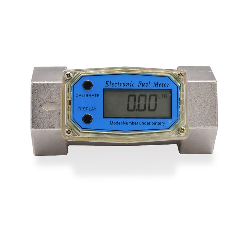 1.5 Inch Liquid Turbine Flowmeter Electronic Digital Display Meter Gasoline Refueling Methanol K24