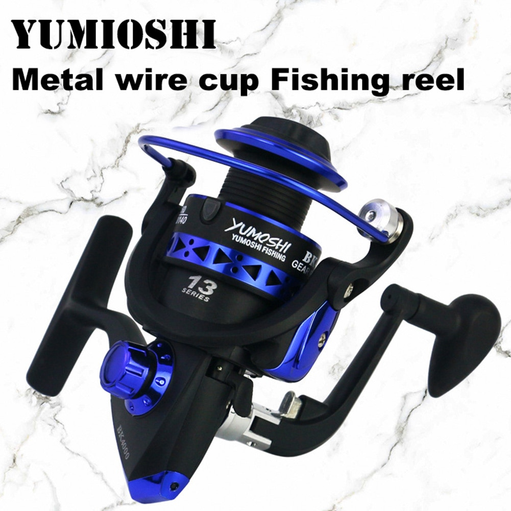 Brand Spinning Reel Metal Spool Max Drag 8KG Carp Fishing Reel 1000-7000 Series 5.5:1 Fishing Wheel For Fishing Reels