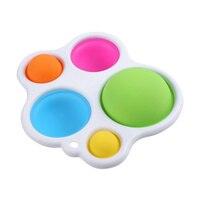 Игрушки-фиджеты с простым затемнением для интеллектуального развития, с цветным шариком, ручная доска для захвата, игрушка для снятия стрес...