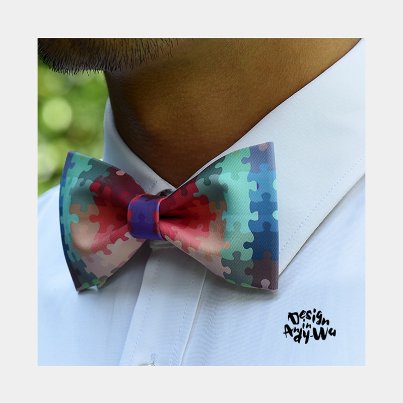 England Style Bow Tie With Gift Box Printed Patchwork Groomsman Butterfly Original Design High Quality Neckties Branded Ties
