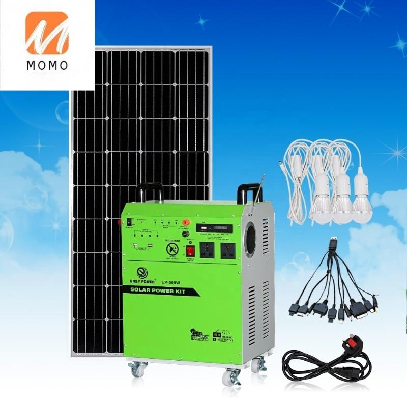 Family use solar generator Solar Panel Kits System 100W 200W 300W 500W Portable Use For Fridge TV LED Light Cell Phone