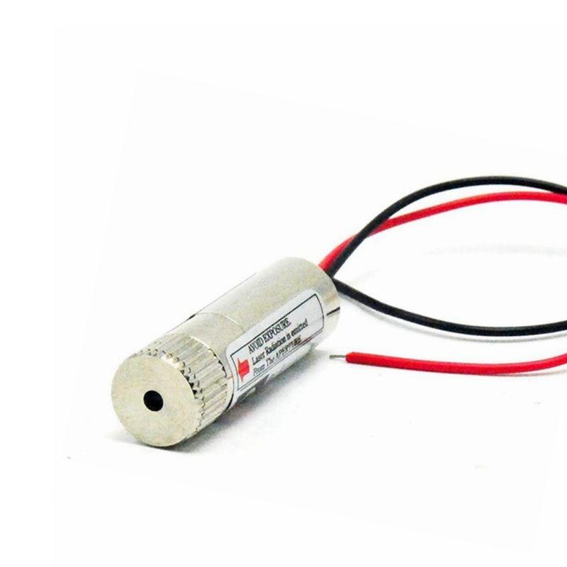Фокусируемый 5 мВт 650 нм красный лазер линия стекло линза диод модуль 12x40 мм