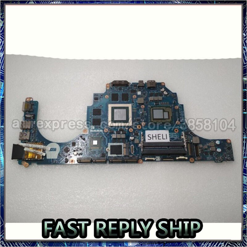SHELI для Dell Alien-ware 15 R1 17 R2 материнская плата с I7-4980HQ GTX980M CN-071T46 071T46 71T46 AAP20 LA-B753P