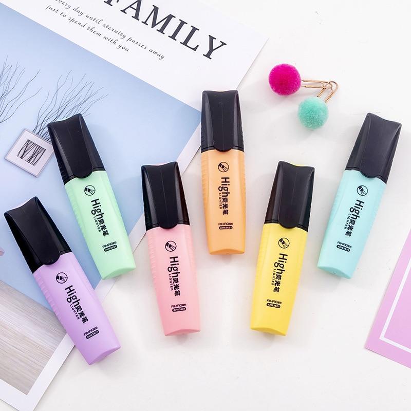 Macaroon цветные мини цветные яркие цветные хайлайтеры рекламные художественные маркеры флуоресцентная ручка подарок канцелярские принадлежности