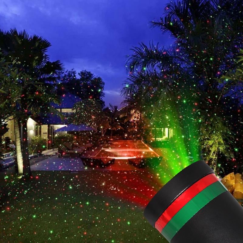 Открытый водонепроницаемый светодиод сцена свет сад дерево перемещение лазер проектор Рождество вечеринка дом украшение эффект лампа