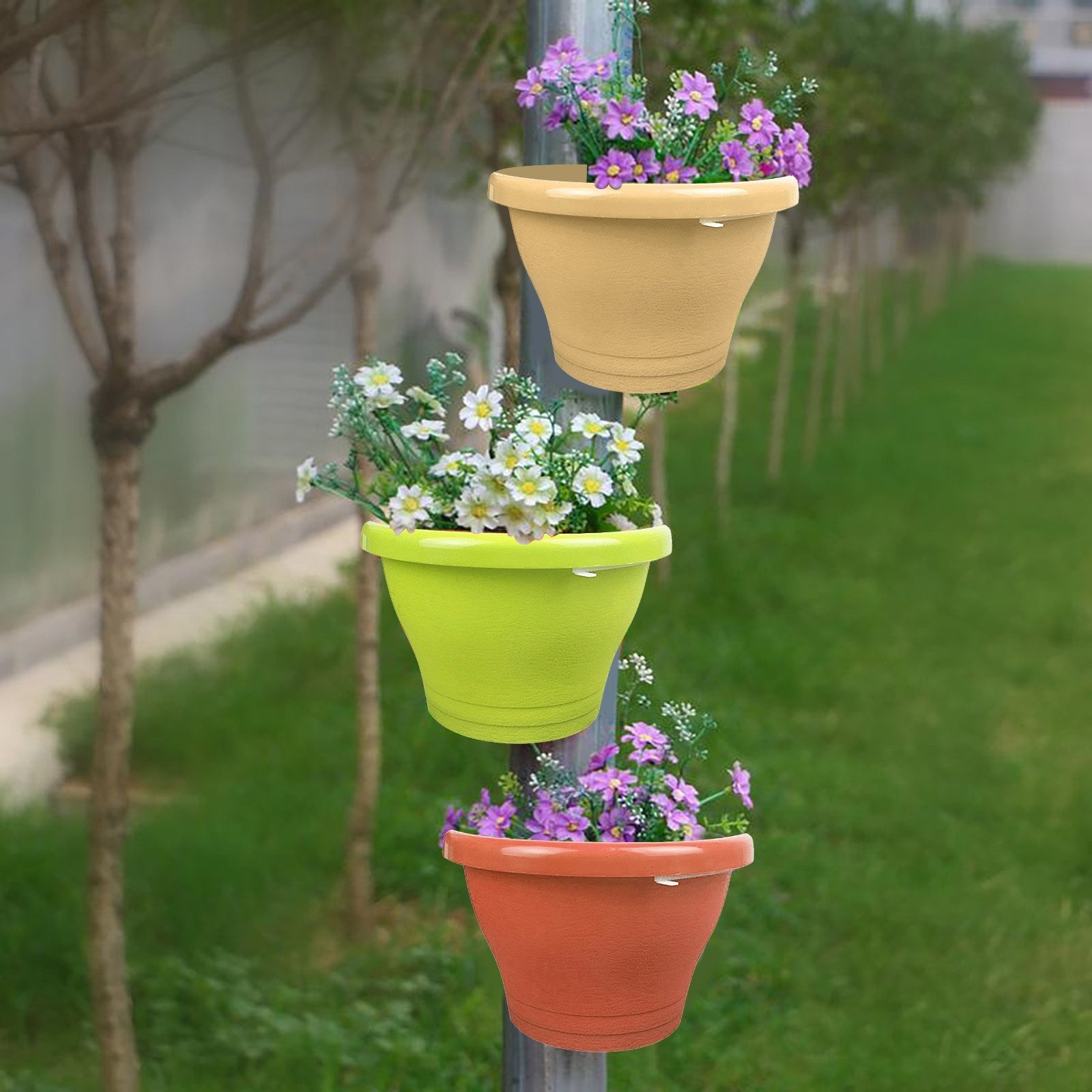 The Flower Pot On The Water Pipe Pvc Pipe Type Hanging Garden Pots Planters Can Be Hung Yard Garden Decor Nursery Pots