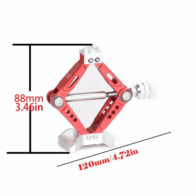 RC Car 1:10 Scale Adjustable Metal Scissor Jack Tool for RC Crawler Axial SCX10 Traxxas TRX4 Tamiya CC01 D90 enlarge