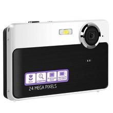 24 câmeras de bolso compactas recarregáveis do bolso da câmera digital de hd do lcd mega pixéis 2.4 polegadas com zoom 3x para estudantes/adultos
