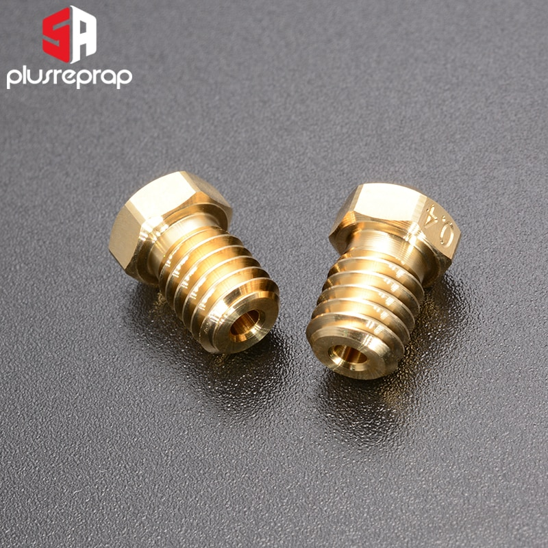 High Quality Series Brass V6 Nozzles for 3D Printer 0.4mm M6 Threaded Nozzle for Titan Extruder 3D Nozzles V5 V6 J-Head Hotend enlarge