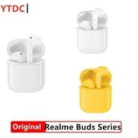 Original Oppo Realme Buds Air TWS Series Wireless headphones Bluetooth Earphones R1 Chip For realme Phones