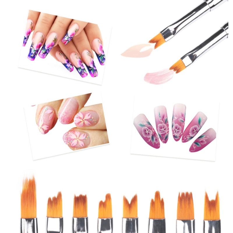 Art des ongles peinture dessiner brosse professionnel acrylique UV Gel vernis à ongles manucure stylo fleur Art des ongles brosse stylo