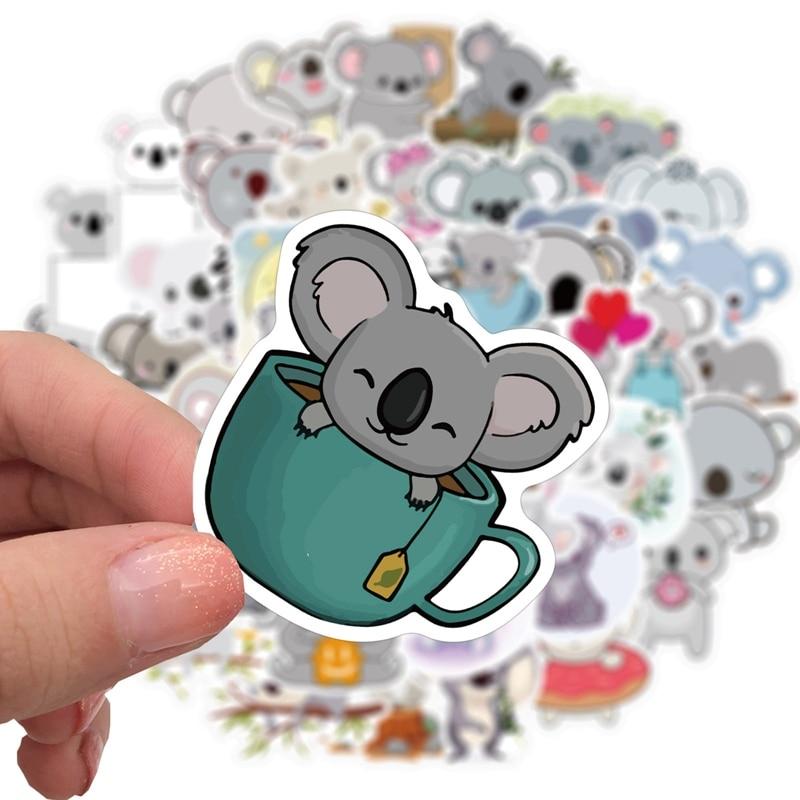 50pcs-cartoon-simpatici-adesivi-koala-doodle-set-per-laptop-skateboard-adesivi-decorativi-di-cancelleria-in-pvc-impermeabile-per-regalo-per-bambini