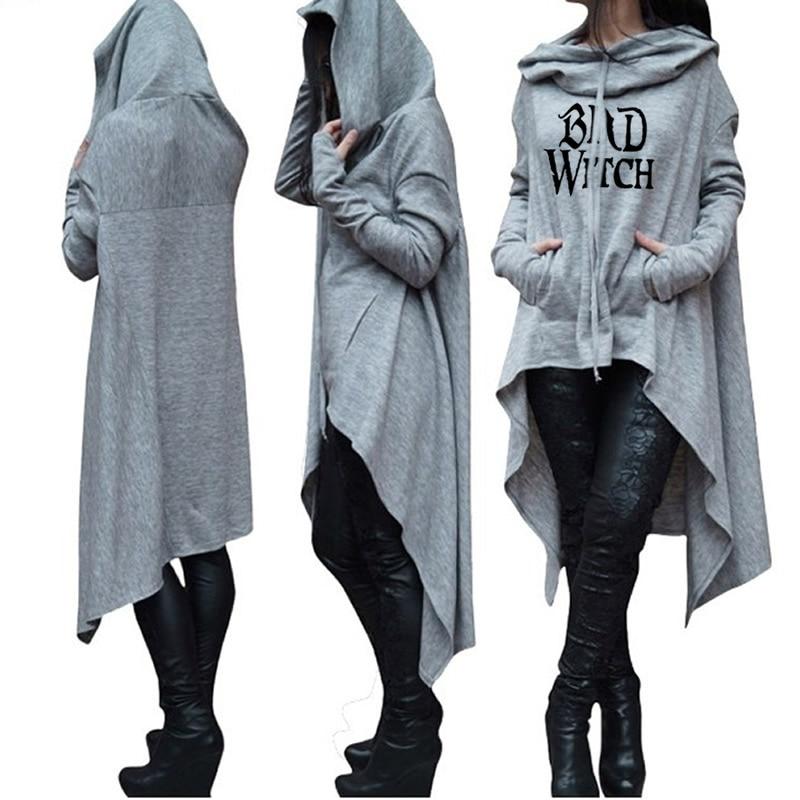 Женский свитшот с капюшоном, черный Свитшот с длинным рукавом и капюшоном