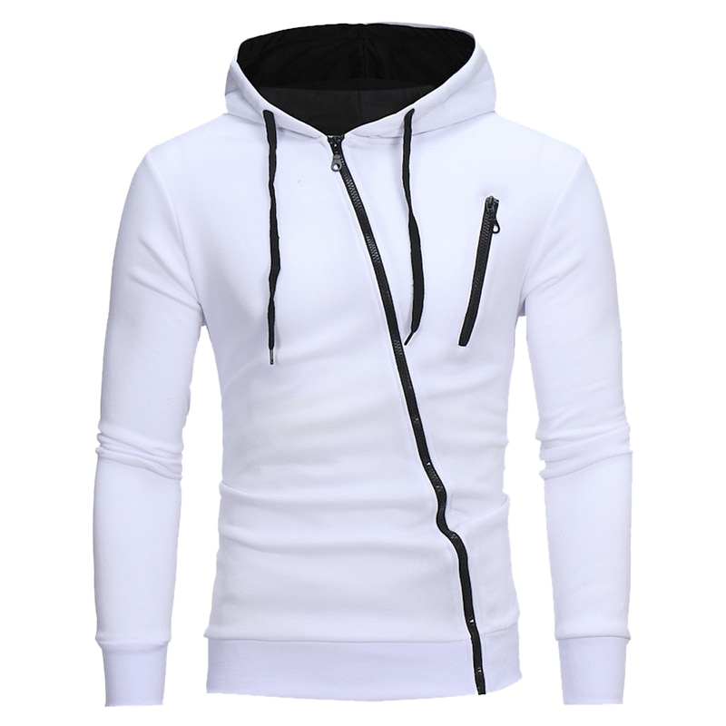 Толстовка DIHOPE мужская с капюшоном, повседневная кофта с длинным рукавом, Приталенный свитшот на молнии, уличная одежда, осень 2020