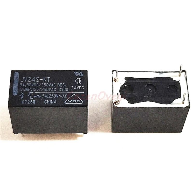 1 unids/lote JV24S-KT JV-24S-KT JV24-KT 24V 24VDC DIP-4 5A 30VDC 250VAC