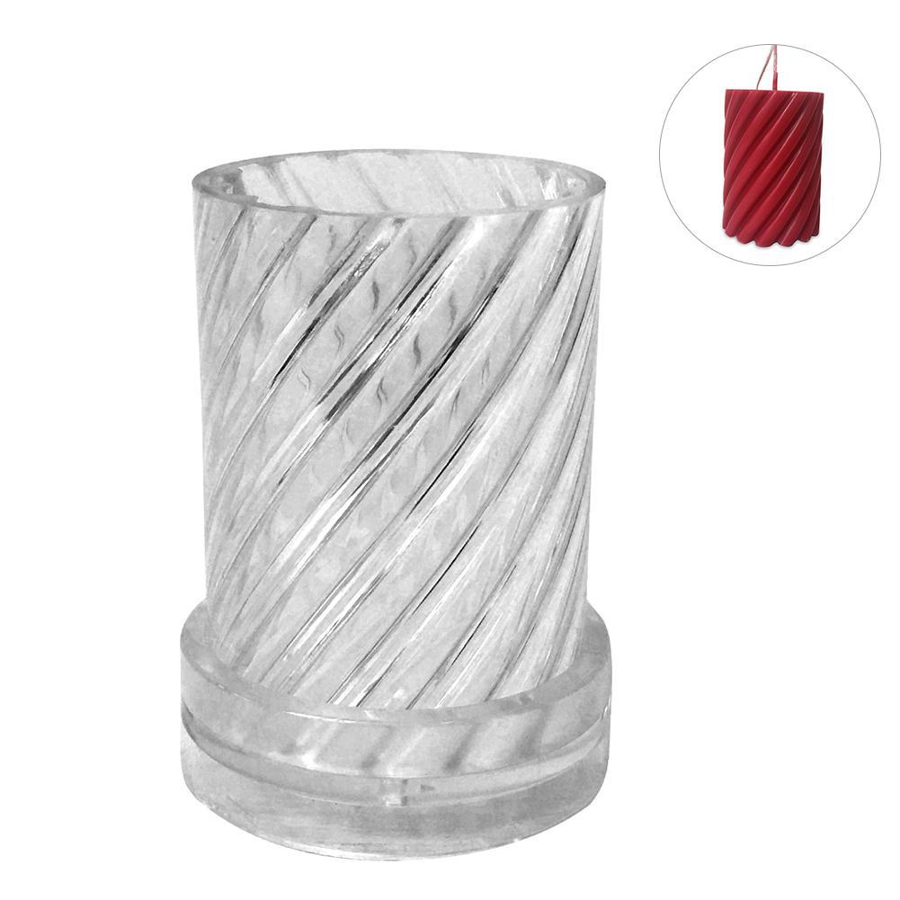 Nuevo molde de vela de plástico para hacer velas de forma espiral modelo de vela para hacer moldes de cera moldes de modelado