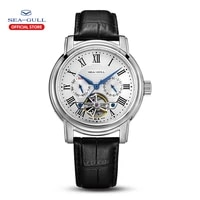 2021 new seagull mens watch automatic mechanical watch multi function hollow flywheel business simple watch d819 622