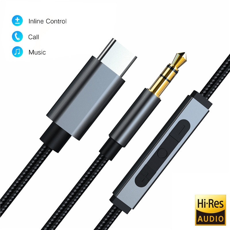 Realtek alc4050 usb tipo-c para 3.5mm jack macho dac aux cabo de áudio de alta fidelidade para samsung xiaoomi huawei pixel 2 3 4 1 + 7 pro alto-falante