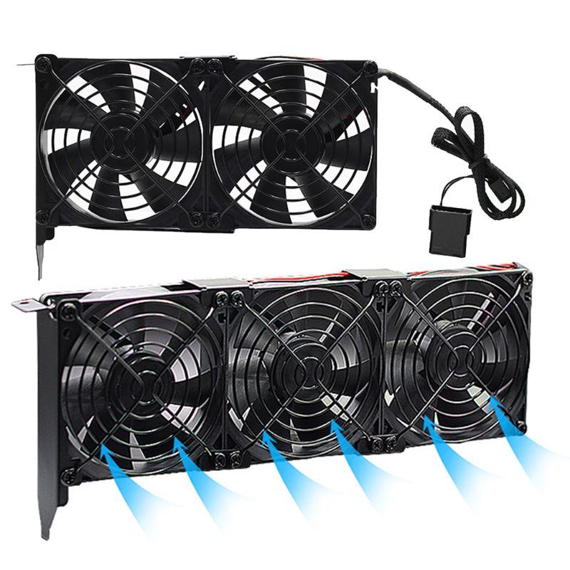 Universal VGA enfriador doble 80mm disipador térmico tarjeta gráfica doble tres Fan GPU radiador socio de Ultra alta velocidad tranquilo de vídeo PCI Coche