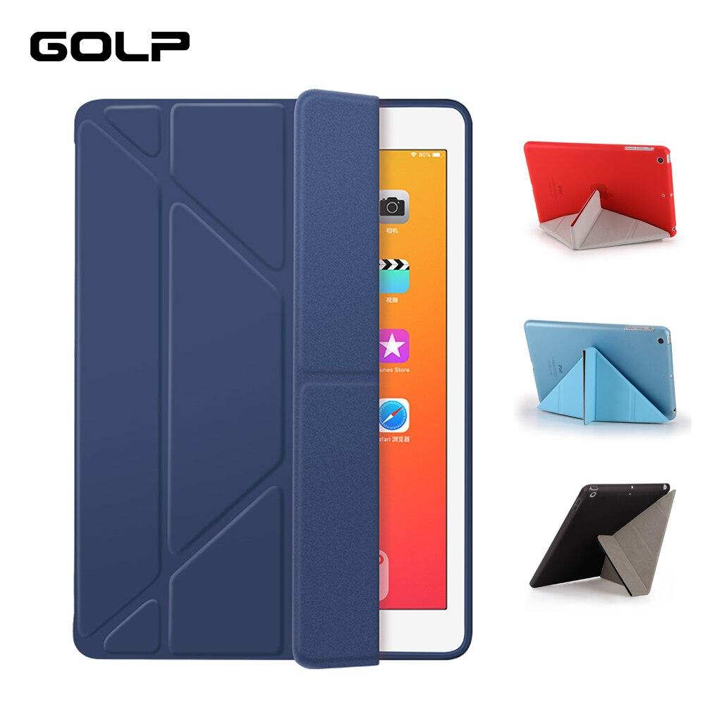 GOLP caso iPad Mini 5 2019 de cuero de la PU suave y de solapa trasera soporte Auto/despertar funda Smart Cover para el iPad Mini 4 2019