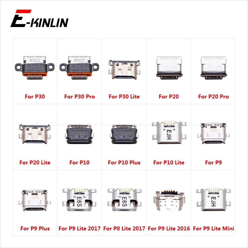 -Tipo C Carga Ficha De Carregamento Doca Micro USB Jack Conector Do Soquete Porta Para HuaWei P30 20 Pro P10 P9 além de Mini Lite 2017 2016