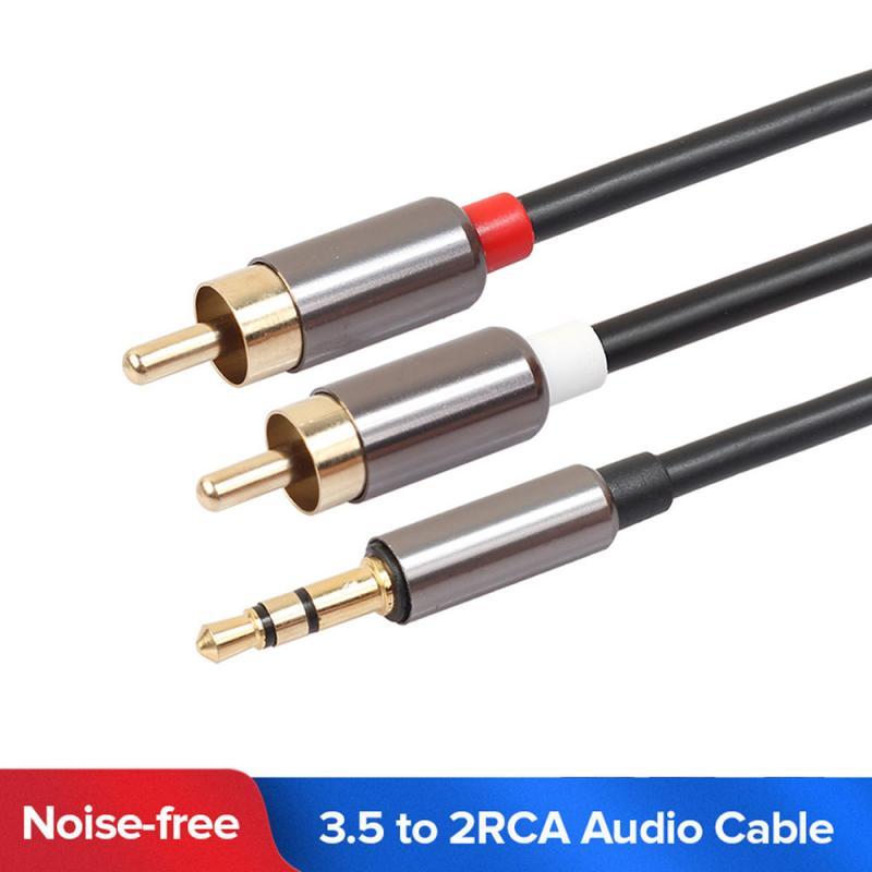 Sec 2 RCA câble HiFi stéréo 2RCA à 3.5mm câble Audio AUX RCA Jack 3.5 Y répartiteur pour amplificateurs Audio Home cinéma câble RCA