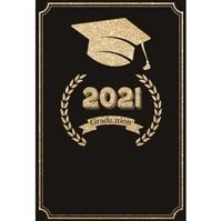 laeacco congratulation 2021 class graduation party decor black photography background photographic backdrop for photo studio