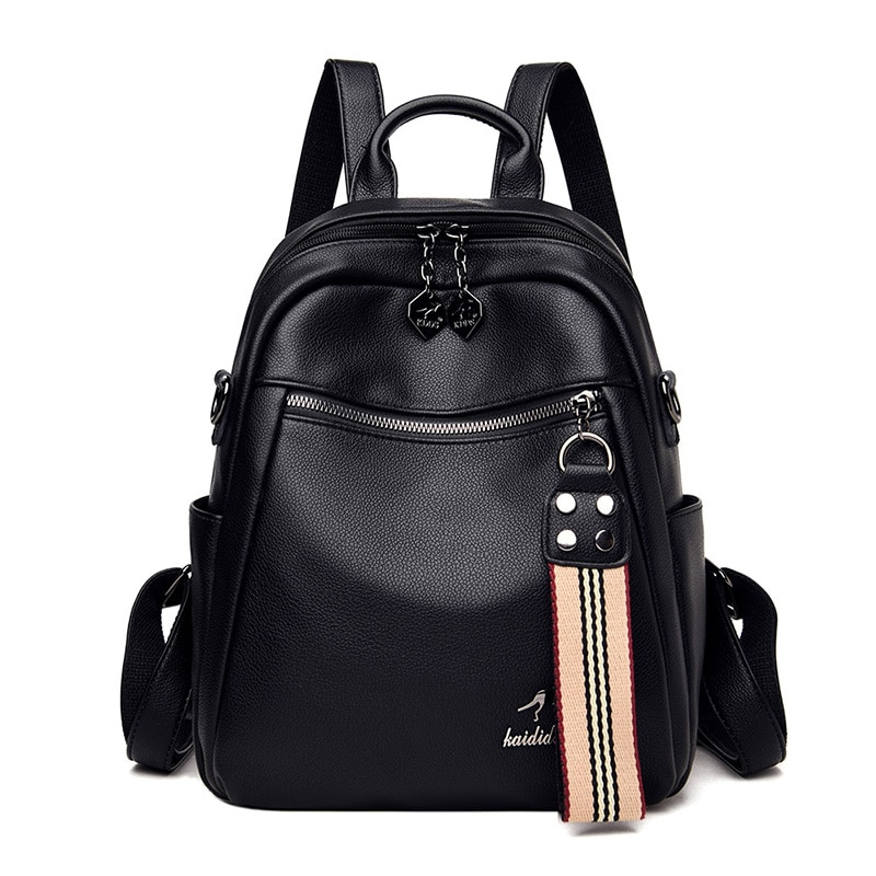 2020 Hot High Quality Leather Backpacks Women High Capacity Travel Backpack School Bags For Teenage Girls Shoulder Bag Mochilas kujing multifunctional backpacks high quality women backpack cheap trend female student bags hot women travel casual backpack
